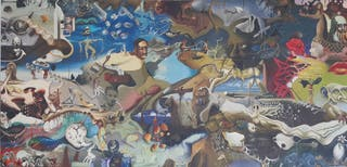 Lienzo estilo Dalí