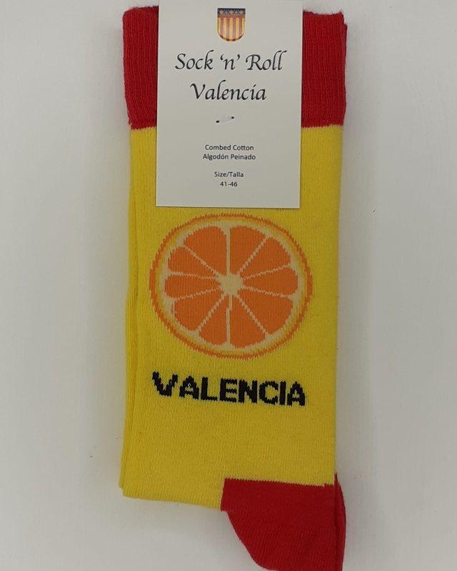 calcetines de naranja valenciana