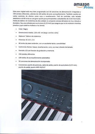 Teclado electronico maestro 88 teclas precintado
