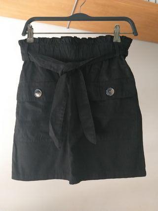 falda c&a negra
