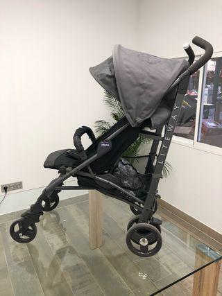 Silla paseo bebe Chicco Liteway 3 en negro usada