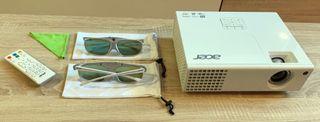 Proyector + soporte, pantalla y gafas 3D