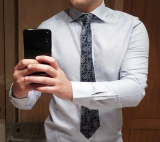 corbata de seda Italiana hecha en Italia.