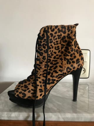 Botines leopardo piel
