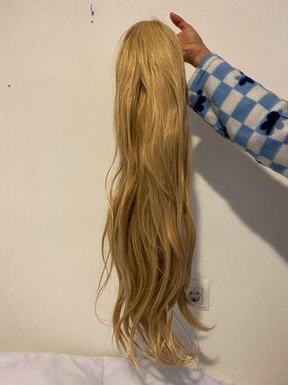 peluca rubia de pelo sintetico
