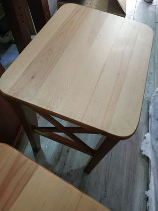 2 taburetes madera