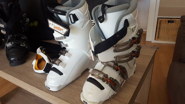 Pack pareja botas, gafas y bolsa esquí