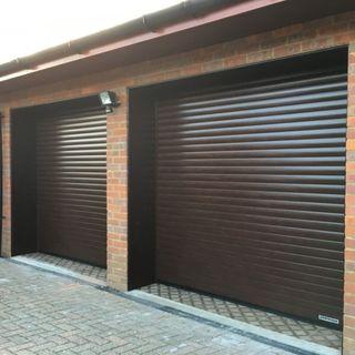 Electric roller shutter garage door