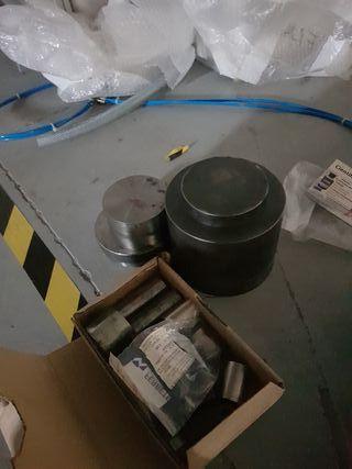2 moldes de acero para prensa uniaxial