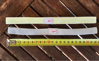 Cintas de pelo deportivas Nike. Sin usar.