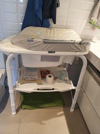 Bañera de bebé con cambiador