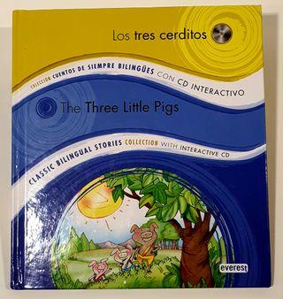 Libro 'Los tres cerditos' Español e Inglés