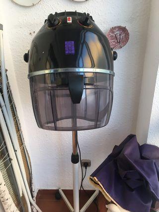 Secador de pie de casco