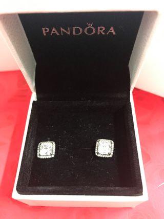 Pendientes Pandora plata