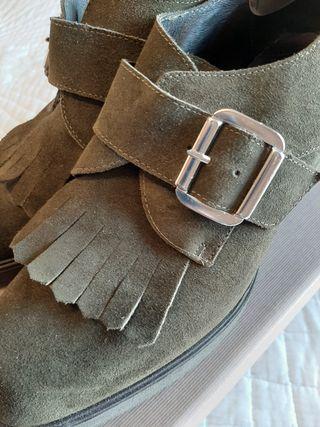 Zapatos muy chulos mujer piel vuelta talla 39