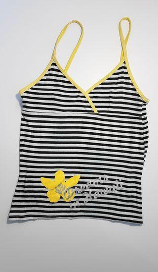 Camiseta de tirantes escotada de rayas talla S