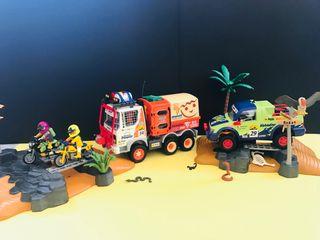 Motos Coche Camión Rally / Dakar Playmobil