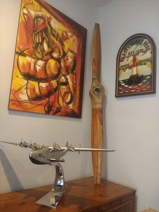 Hélice de avión ejército auténtica vintage