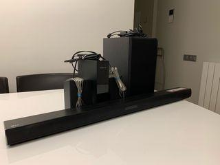 Barra de sonido LG LJ4R, altavoces y subwoofer