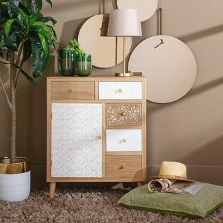Mueble Recibidor,Auxiliar Consola Cajones Vintage