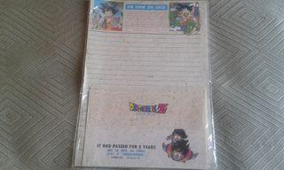 Dragon Ball sobres y papel cartas.