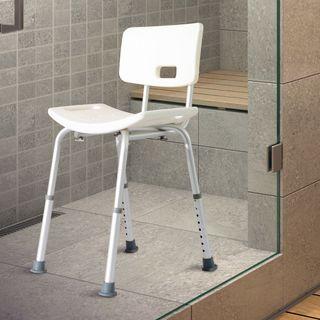 Silla Ducha Aluminio Baño Taburete Regulable + Res