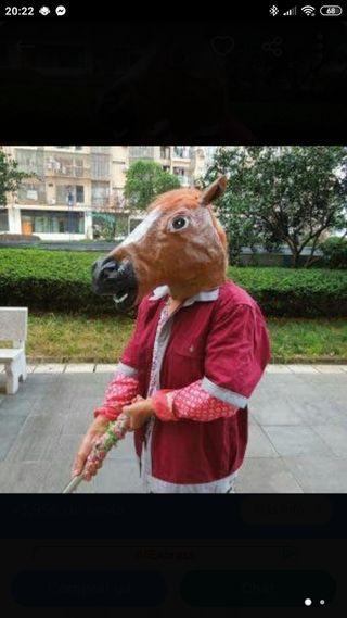 careta máscara caballo loco disfraz carnavales