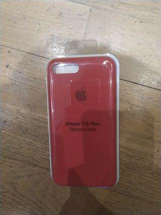 Funda iphone 7/8 plus roja