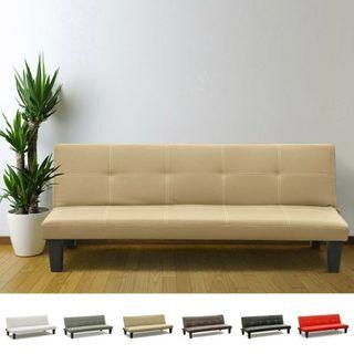 Sofá cama 3 plazas cuero polipiel
