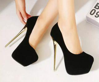 Zapatos de tacón de aguja metálico talla 44-45