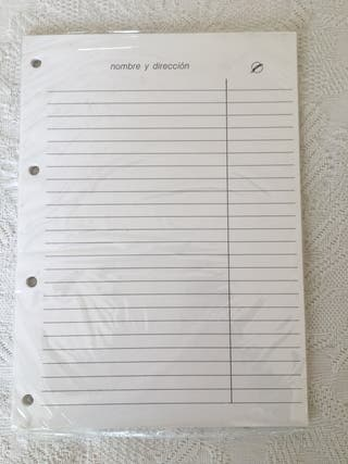Recambio de agenda. 1x1,5€. 2x2,5€.
