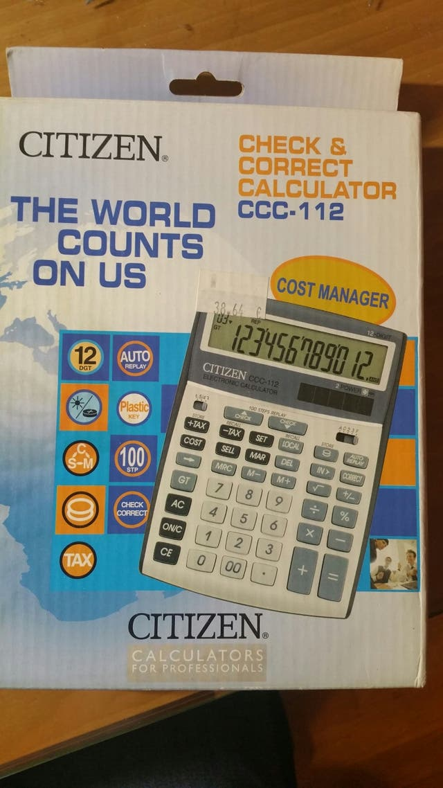 Calculadora Citizen CCC 112