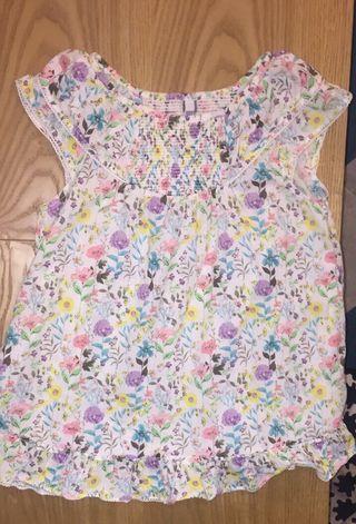 Camisa de flores tirantes