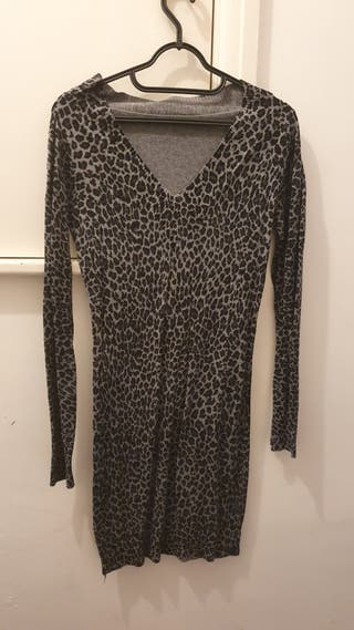 Grey leopard dress