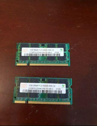 Memoria ram 1GB Hynix portatil netbook