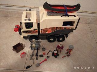 Playmobil,camión,soldados,safari,lote,África,furgo