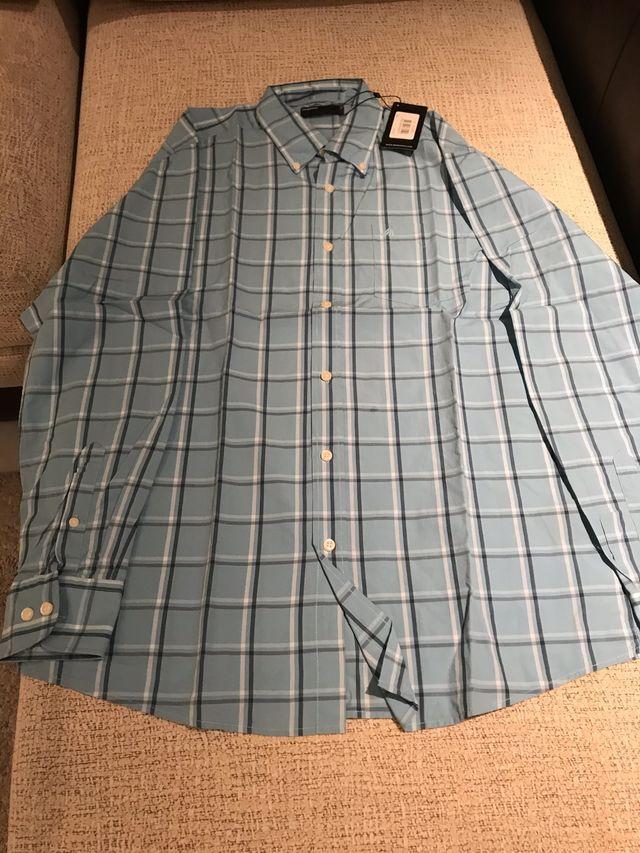 camisa azul hombre tL