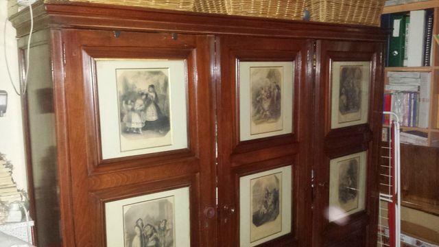 armario antiguo de madera c. caoba rebaja