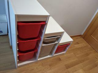 Estanteria almacenaje juguetes Ikea TROFAST
