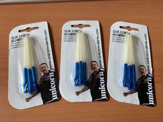 Dardos Cañas Unicorn SlikStik+ Aluminium Azules