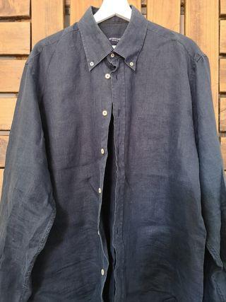 Camisa McGregor XL azul marino de lino Nunca Usada