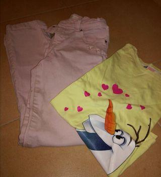 pantalones y camiseta niña