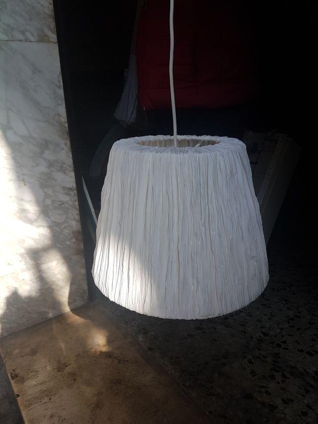 lámparas tela. ikea