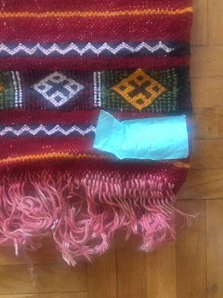 Alfombra kilim bereber tonos rojos 150 x 96 cm