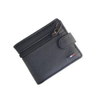 billetera de hombre con monedero grande de piel