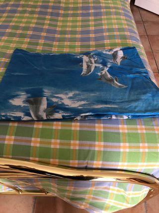 Housse de couette imprimé dauphin