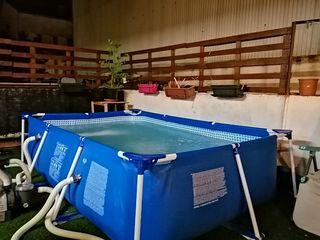 piscina y depuradora de arena