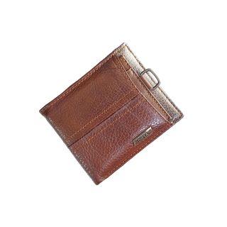 billetera grande piel marrón negra hombre