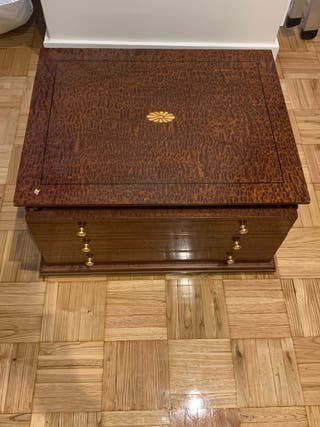 Caja madera con marquetería
