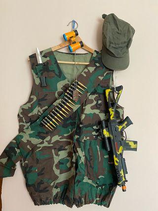 Disfraz militar calidad con complementos